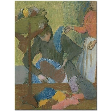 Trademark Global Edgar Degas in.At the Milliner's, 1898in. Canvas Arts