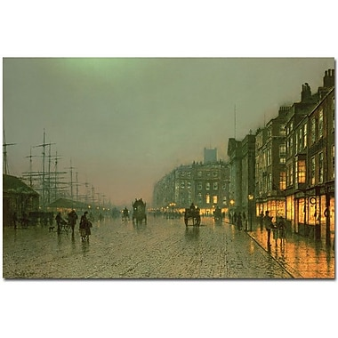 Trademark Global John Atkinson Grimshaw in.Liverpool Docks, 1870in. Canvas Arts