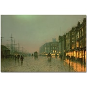 "Trademark Global John Atkinson Grimshaw ""Liverpool Docks, 1870"" Canvas Art, 30"" x 47"""