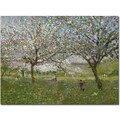 Trademark Global Ernest Quost in.Apple Trees in Flowerin. Canvas Art, 35in. x 47in.