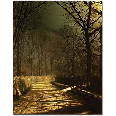 Trademark Global John Atkinson Grimshaw in.A Moonlit Lanein. Canvas Arts