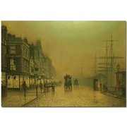 "Trademark Global John Atkinson Grimshaw ""Liverpool Docks"" Canvas Art, 30"" x 47"""