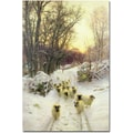 Trademark Global Joseph Farquharson in.The Sun had Closed a Winter's Dayin. Canvas Art, 47in. x 35in.