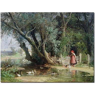 Trademark Global Wouter Kniff in.The Duck Pondin. Canvas Art, 24in. x 32in.