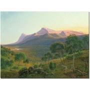 "Trademark Global Eduard Heinel ""Aborigines by a Fire"" Canvas Art, 18"" x 24"""