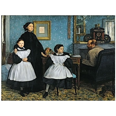 Trademark Global Edgar Degas in.The Bellelli Family, 1858 67in. Canvas Art, 18in. x 24in.