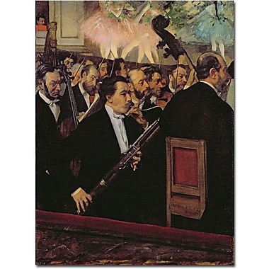 Trademark Global Edgar Degas in.The Opera Orchestra, 1870in. Canvas Arts