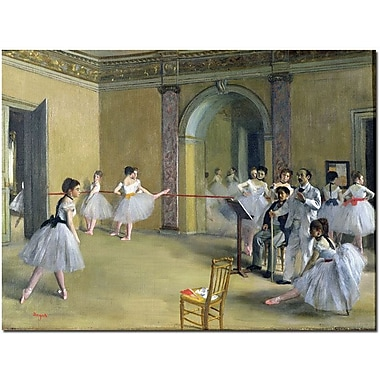Trademark Global Edgar Degas in.The Dance Foyer, 1872in. Canvas Art, 35in. x 47in.