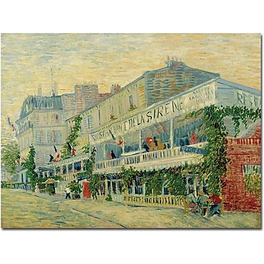 Trademark Global Vincent Van Gogh in.Restaurant de la Sirene 1887in. Canvas Art, 18in. x 24in.