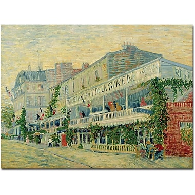 Trademark Global Vincent Van Gogh in.Restaurant de la Sirene 1887in. Canvas Arts