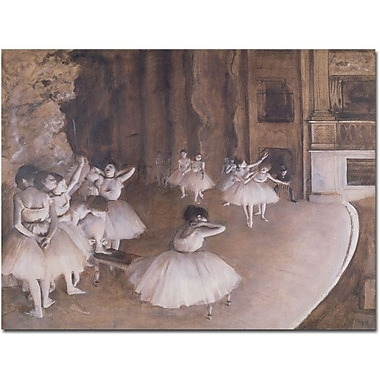 Trademark Global Edgar Degas in.Ballet Rehearsal, 1874in. Canvas Arts