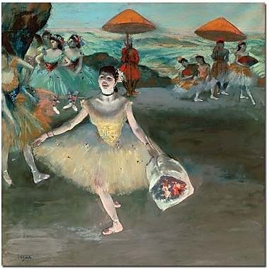 Trademark Global Edgar Degas in.Dancer with Bouquet, 1877in. Canvas Art, 24in. x 24in.