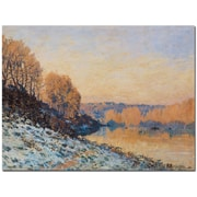 Trademark Global Alfred Sisley Port Marly, White Frost, 1872 Canvas Art, 35 x 47