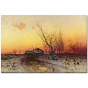 "Trademark Global Julius Klever ""Winter Landscape"" Canvas Art, 16"" x 24"""