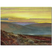 "Trademark Global John Atkinson Grimshaw ""A Lake Landscape at Sunset"" Canvas Art, 35"" x 47"""
