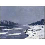 Trademark Global Claude Monet Ice on Seine at Bougival, 1867-8 Canvas Art, 26 x 32