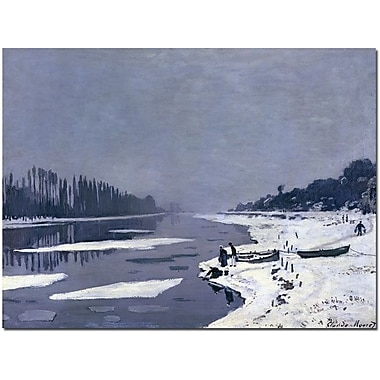 Trademark Global Claude Monet in.Ice on Seine at Bougival, 1867-8in. Canvas Arts
