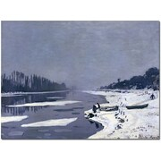 Trademark Global Claude Monet Ice on Seine at Bougival, 1867-8 Canvas Art, 35 x 47