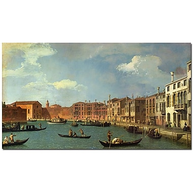 Trademark Global Canaletto in.Canal of Santa Ciara, Venicein. Canvas Art, 30in. x 47in.