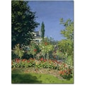 Trademark Global Claude Monet in.Flowering Garden at Sainte Adressein. Canvas Arts