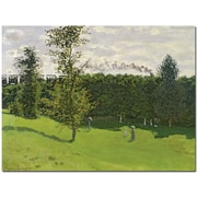 "Trademark Global Claude Monet ""Train in the Country, 1870-71"" Canvas Art, 18"" x 24"""