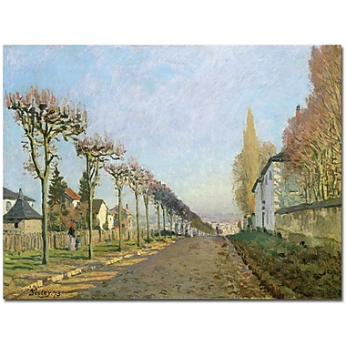 Trademark Global Alfred Sisley in.Rue de la machine, Louveciennes, 1873in. Canvas Art, 35in. x 47in.