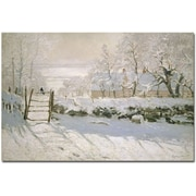 "Trademark Global Claude Monet ""The Magpie, 1869"" Canvas Arts"