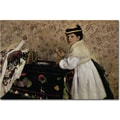 Trademark Global Edgar Degas in.Portrait of Miss Valpincon, 1869in. Canvas Art, 16in. x 24in.