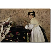 "Trademark Global Edgar Degas ""Portrait of Miss Valpincon, 1869"" Canvas Art, 16"" x 24"""