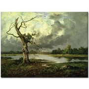 "Trademark Global Leon Richet ""French River Landscape"" Canvas Art, 26"" x 32"""