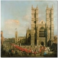 Trademark Global Canaletto in.Procession of the Knightsin. Canvas Art, 24in. x 24in.