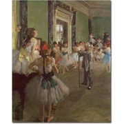 "Trademark Global Edgar Degas ""The Dancing Class, 1873"" Canvas Art, 19"" x 14"""