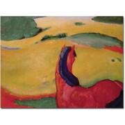 Trademark Global Franz Marc Horse in a Landscape 1910 Canvas Art, 24 x 32