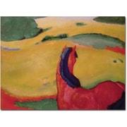 Trademark Global Franz Marc Horse in a Landscape 1910 Canvas Art, 35 x 47