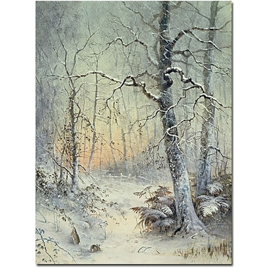 Trademark Global Joseph Farquharson in.Winter Breakfastin. Canvas Art, 32in. x 26in.