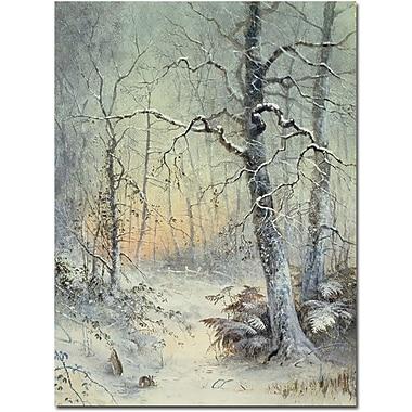 Trademark Global Joseph Farquharson in.Winter Breakfastin. Canvas Art, 32in. x 26in.