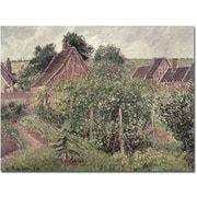"Trademark Global Camille Pissarro ""Landscape with Cottage Roofs 1889"" Canvas Art, 26"" x 32"""