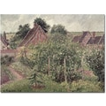 Trademark Global Camille Pissarro in.Landscape with Cottage Roofs 1889in. Canvas Arts