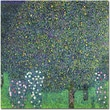 """Trademark Global Gustav Klimt """"Roses Under the Trees, 1905"""" Canvas Art, 18"""" x 18"""""""