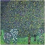 Trademark Global Gustav Klimt Roses Under the Trees,
