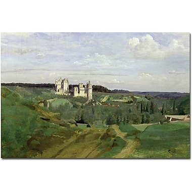 Trademark Global Jean Baptiste Corot in.View of Chateau de Pierrefonds, 1840in. Canvas Arts
