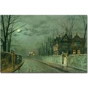 Trademark Global John Atkinson Grimshaw Old English House 1883 Canvas Art, 16 x 24