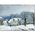 Trademark Global Alfred Sisley in.Place du Chenil, Snow, 1876in. Canvas Art, 18in. x 24in.