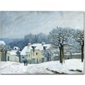 Trademark Global Alfred Sisley in.Place du Chenil, Snow, 1876in. Canvas Arts