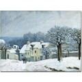 Trademark Global Alfred Sisley in.Place du Chenil, Snow, 1876in. Canvas Art, 35in. x 47in.