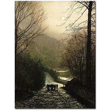 Trademark Global John Atkinson Grimshaw in.The Timber Waggonin. Canvas Arts