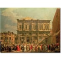 Trademark Global Canaletto in.Doge Visiting the Church and Scuole di St.Roccoin. Canvas Arts