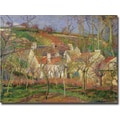 Trademark Global Camille Pissarro in.The Red Roofs, Winter, 1877in. Canvas Art, 26in. x 32in.