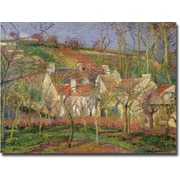 Trademark Global Camille Pissarro The Red Roofs, Winter, 1877 Canvas Art, 26 x 32