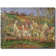 Trademark Global Camille Pissarro Red Roofs, 1877 Canvas Art, 35 x 47